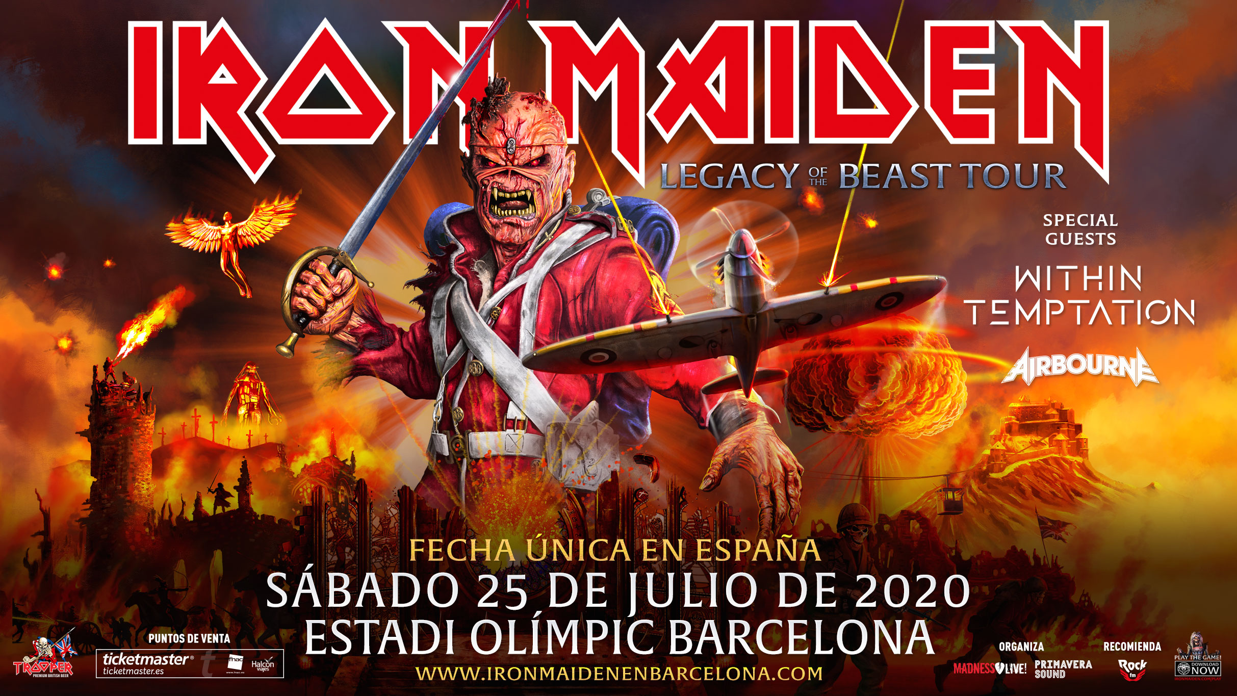 Iron Maiden Tour 2020.Tickets Official Page Iron Maiden In Spain 2020